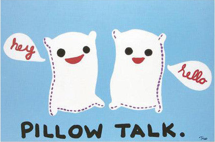 Todd Goldman Pillow Talk Fine Art Canvas Giclee Print Artist Hand Signed and Numbered