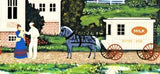 The Milkmans Route Jane Wooster Scott Artist Proof Serigraph Print Artist Hand Signed and AP Numbered