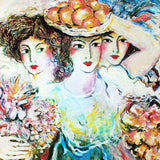 Three Women Zamy Steynovitz Offset Lithograph Print Artist Hand Signed and Numbered