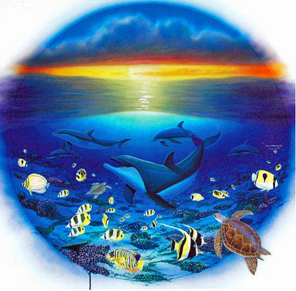 Sea of Life Wyland Canvas Giclee Print Artist Hand Signed and Numbered