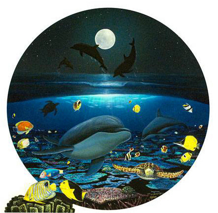 Moonlight Celebration Wyland Canvas Giclee Print Artist Hand Signed and Numbered