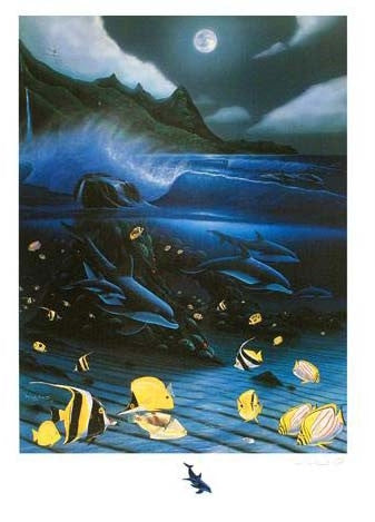 Hanalei Bay Wyland Mixed Media Print Artist Hand Signed and Numbered