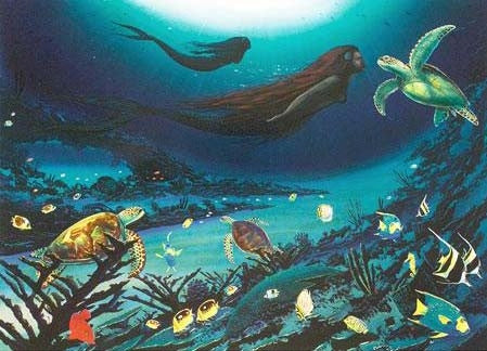 Siren of the Sea Wyland Lithograph Print Artist Hand Signed and Numbered
