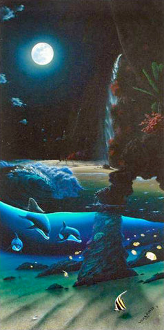 Island Paradise Wyland Canvas Giclee Print Artist Hand Signed and Numbered