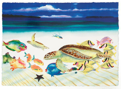 Conch Republic Left Panel Wyland and Tracy Taylor Lithograph Print Artist Hand Signed and Numbered