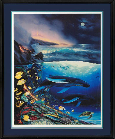 Two Worlds of Paradise Wyland and Walfrido Garcia Fine Art Lithograph Print Wyland Hand Signed and Numbered
