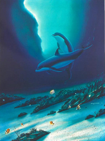 Ocean Children Wyland Lithograph Print Artist Hand Signed and Numbered