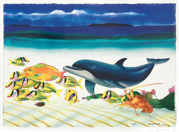 Conch Republic Right Panel Wyland and Tracy Taylor Lithograph Print Artist Hand Signed and Numbered