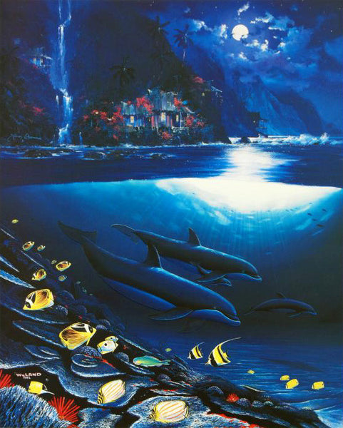 Paradise Wyland and James Coleman Lithograph Print Artists Hand Signed and Numbered