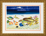 Conch Republic Left Panel Wyland Lithograph Print Artist Hand Signed Numbered and Framed