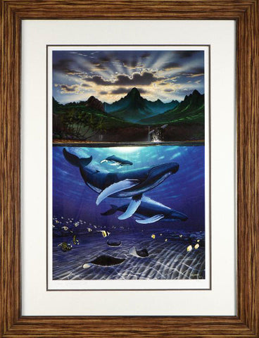 Dawn of Creation Wyland Fine Art Lithograph Print Artist Hand Signed Numbered and Framed