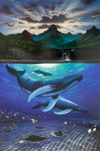 Dawn of Creation Wyland Fine Art Lithograph Print Artist Hand Signed and Numbered