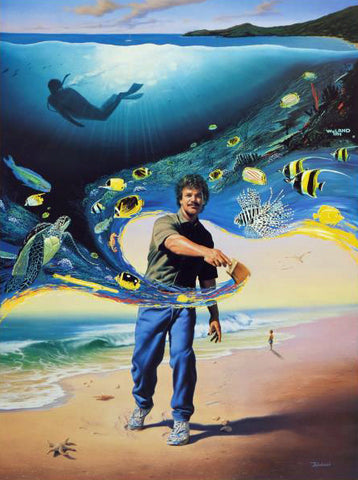 Another Day at the Office Wyland and Jim Warren Lithograph Print Both Artists Hand Signed and Numbered