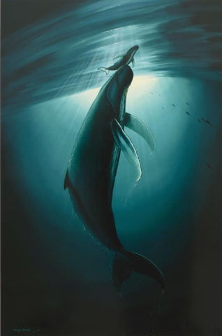 The First Breath Wyland Lithograph Print Artist Hand Signed and Numbered