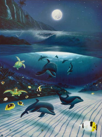 Mystical Waters Wyland Lithograph Print Artist Hand Signed and Numbered