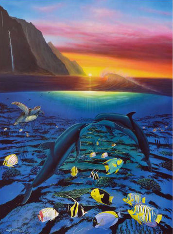 Kiss for the Sea Wyland Lithograph Print Artist Hand Signed and Numbered
