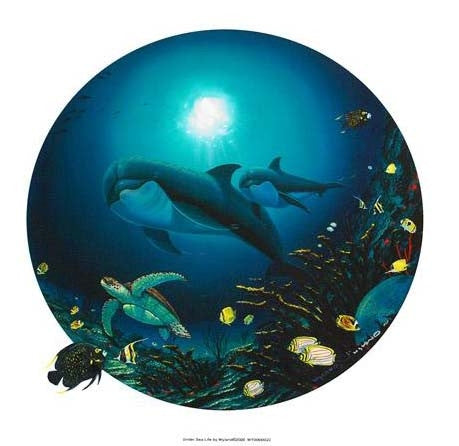 Undersea Life Wyland Fine Art Canvas Giclee Print Artist Hand Signed and Numbered