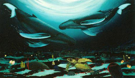 Humpback Dance Wyland Canvas Giclee Print Artist Hand Signed and Numbered