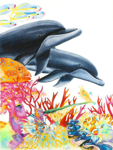 Sea of Life Wyland and Tracy Taylor Fine Art Canvas Giclee Print Wyland Hand Signed and Numbered