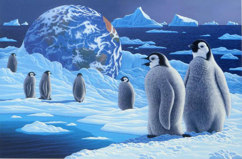 William Schimmel Antarcticas Children Fine Art Serigraph Print Artist Hand Signed and Numbered