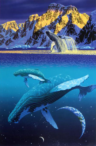 The Humpbacks World William Schimmel Fine Art Serigraph Print Artist Hand Signed and Numbered