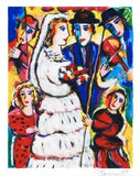Music at the Wedding Zamy Steynovitz Serigraph Print Artist Hand Signed and Numbered