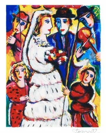 Music at the Wedding Zamy Steynovitz Fine Art Serigraph Print Artist Hand Signed and Numbered