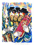 Sukkot II Zamy Steynovitz Serigraph Print Artist Hand Signed and Numbered