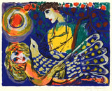 Passionate Peacock Zamy Steynovitz Artist Proof Serigraph Print Artist Hand Signed and AP Numbered