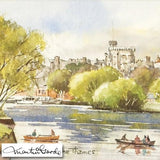 Windsor Castle from the Thames Martin Goode Original Watercolor Painting Artist Hand Signed Framed