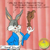 Pewlitzer Prize Chuck Jones Hand Painted Animation Cel Hand Signed and Numbered with Full Color Background