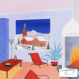Cabin Austria Fanch Ledan Fine Art Canvas Giclee Print Artist Hand Signed and Numbered