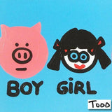 Boy Girl Boy Girl Todd Goldman Fine Art Canvas Giclee Print Artist Hand Signed and Numbered