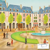 Place des Vosges Fanch Ledan Artist Proof Lithograph Print Artist Hand Signed and AP Numbered