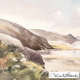 Rickets Head Newgate Martin Goode Fine Art Original Watercolor Painting Artist Hand Signed and Framed