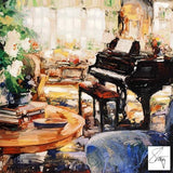 Blue Adante Stephen Shortridge Hand Embellished Artist Proof Canvas Giclee Print Artist Hand Signed and AP Numbered