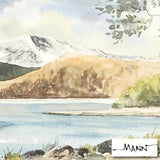 Derwentwater Martin Goode Fine Art Original Watercolor Painting Artist Hand Signed Framed