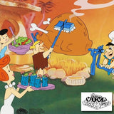 Flintstones Barbecue Hanna Barbera Animation Art Sericel with a Full Color Lithograph Background Framed