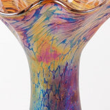 Glass Eye Studio Ruffle Sahara Vase Hand Blown Glass Sculpture Artist Hand Signed Containing Volcanic Ash from the Eruption of Mount St Helens