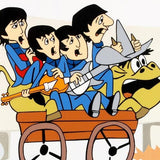 The Beatles Bullride Sericel by DenniLu with a Full Color Lithograph Background Authorized by Apple Corps