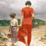 Homeward Bound Pino Daeni Canvas Giclee Print Artist Hand Signed and Numbered