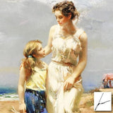 By the Sea Pino Daeni Fine Art Canvas Giclee Print Artist Hand Signed and Numbered