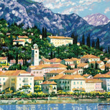 Bellagio Hillside Howard Behrens Serigraph Print Artist Hand Signed and Numbered
