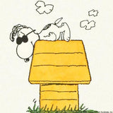 Snoopy on His House with Sunglasses Peanuts Hand Tinted Color Etching Numbered