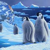 Antarcticas Children William Schimmel Fine Art Serigraph Print Artist Hand Signed and Numbered