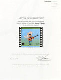 Chuck Jones Artist Hand Signed Hand Painted Color Animation Cel Sound Please Numbered