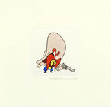 Yosemite Sam Warner Bros Looney Tunes Hand Tinted Color Etching Set with Matching Edition Numbered