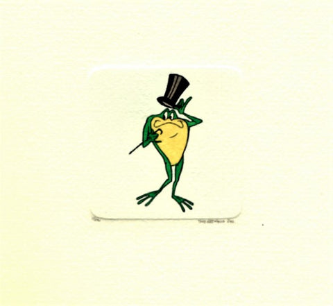 Michigan J Frog Warner Bros Looney Tunes Hand Tinted Color Etching Numbered