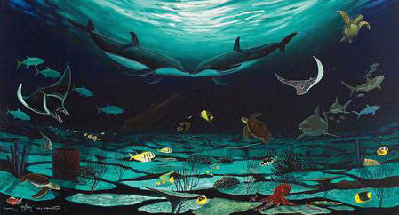Loving Sea Wyland Canvas Giclee Print Artist Hand Signed and Numbered