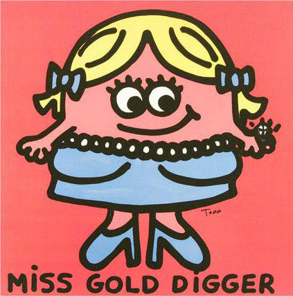 Todd Goldman Miss Gold Digger Fine Art Canvas Giclee Print Artist Hand Signed and Numbered